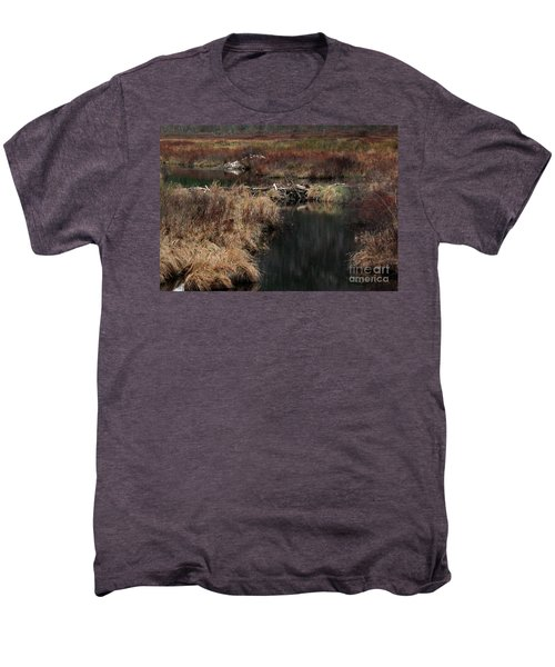 A Beaver's Work Men's Premium T-Shirt by Skip Willits
