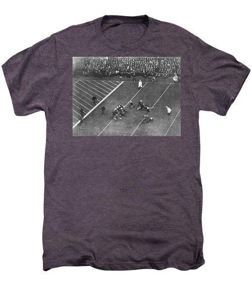 Albie Booth Kick Beats Harvard Men's Premium T-Shirt by Underwood Archives