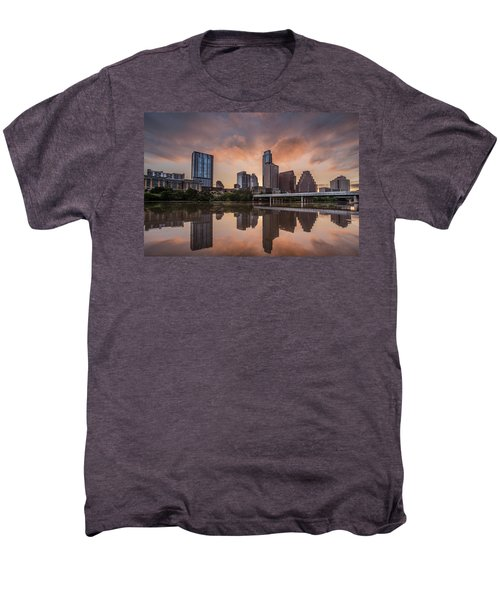 Austin Skyline Sunrise Reflection Men's Premium T-Shirt by Todd Aaron