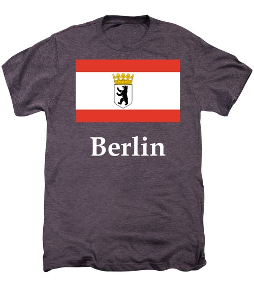 Berlin, Germany Flag And Name Men's Premium T-Shirt by Frederick Holiday