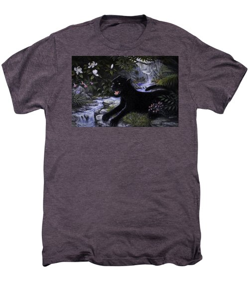 Black Panther Men's Premium T-Shirt by Charles Kim