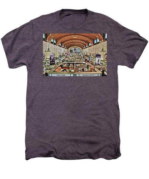 Classic Westside Market Men's Premium T-Shirt by Frozen in Time Fine Art Photography