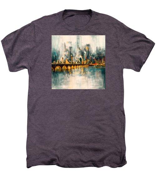 Dallas Skyline 217 3 Men's Premium T-Shirt by Mawra Tahreem