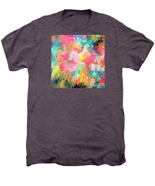 Fireworks Floral Abstract Square Men's Premium T-Shirt by Edward Fielding
