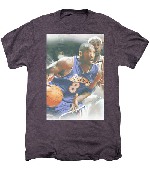 Kobe Bryant Lebron James Men's Premium T-Shirt by Joe Hamilton