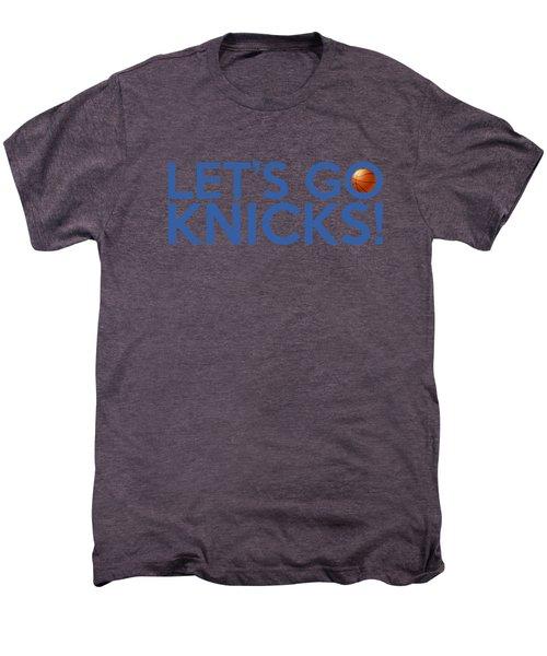 Let's Go Knicks Men's Premium T-Shirt by Florian Rodarte