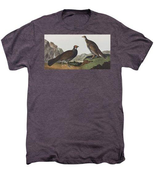 Long-tailed Or Dusky Grous Men's Premium T-Shirt by John James Audubon