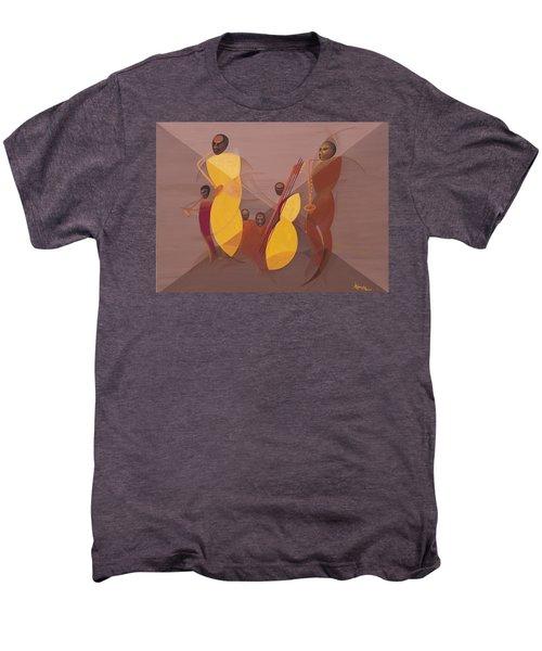 Mango Jazz Men's Premium T-Shirt by Kaaria Mucherera