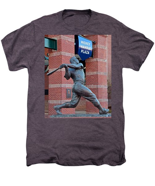 Mickey Mantle Men's Premium T-Shirt by Frozen in Time Fine Art Photography