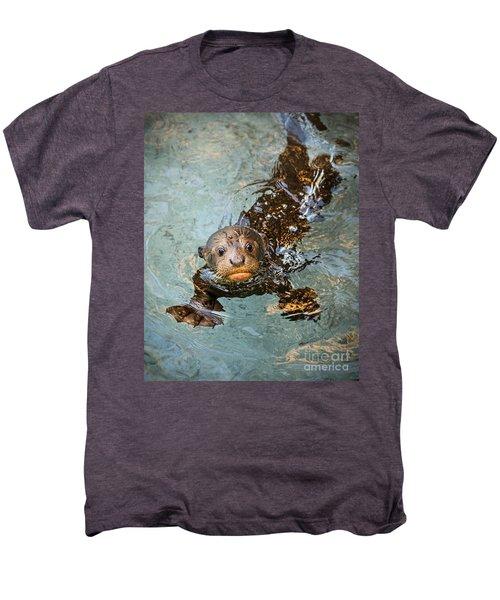 Otter Pup Men's Premium T-Shirt by Jamie Pham