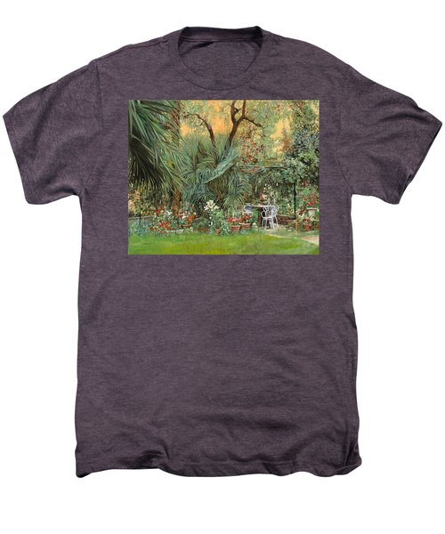 Our Little Garden Men's Premium T-Shirt by Guido Borelli