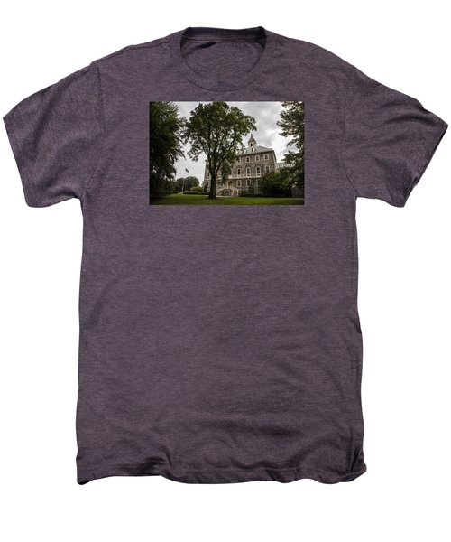 Penn State Old Main And Tree Men's Premium T-Shirt by John McGraw