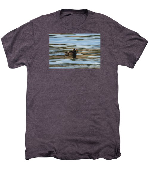 Puffin Reflected Men's Premium T-Shirt by Mike Dawson