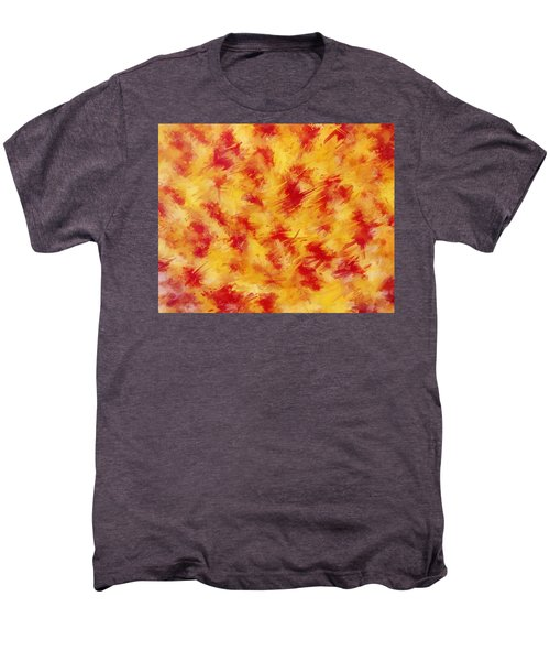 Red And Yellow Abstract No. 2 Men's Premium T-Shirt by Sandy Taylor