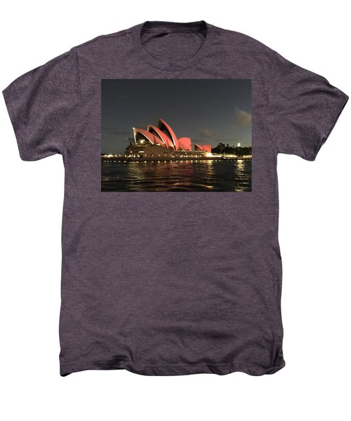 Red Sydney Opera House Men's Premium T-Shirt by Sandy Taylor