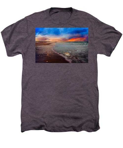 Sandpiper Sunrise Men's Premium T-Shirt by Betsy Knapp