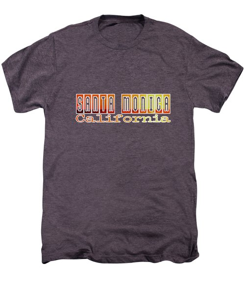 Santa Monica Men's Premium T-Shirt by Brian's T-shirts