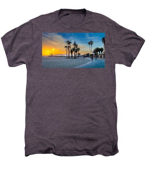 Santa Monica Sunset Men's Premium T-Shirt by Az Jackson