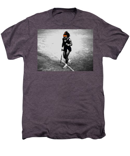 Serena Williams Match Point 3a Men's Premium T-Shirt by Brian Reaves