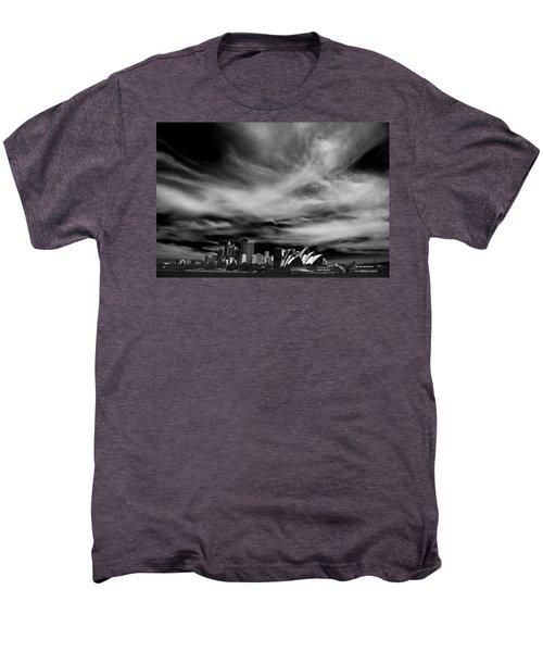 Sydney Skyline With Dramatic Sky Men's Premium T-Shirt by Avalon Fine Art Photography