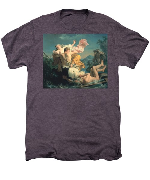 The Abduction Of Deianeira By The Centaur Nessus Men's Premium T-Shirt by Louis Jean Francois Lagrenee