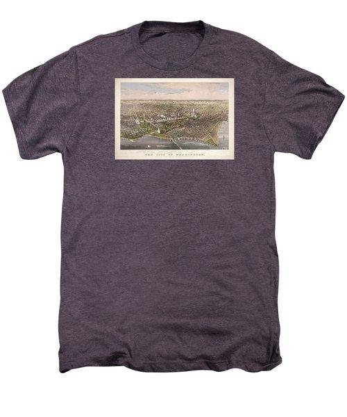 The City Of Washington Men's Premium T-Shirt by Charles Richard Parsons