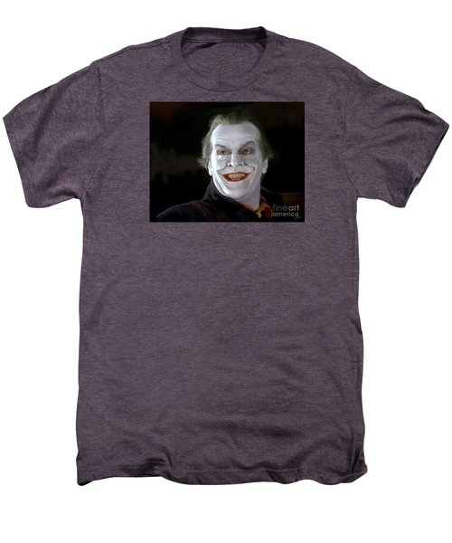 The Joker Men's Premium T-Shirt by Paul Tagliamonte