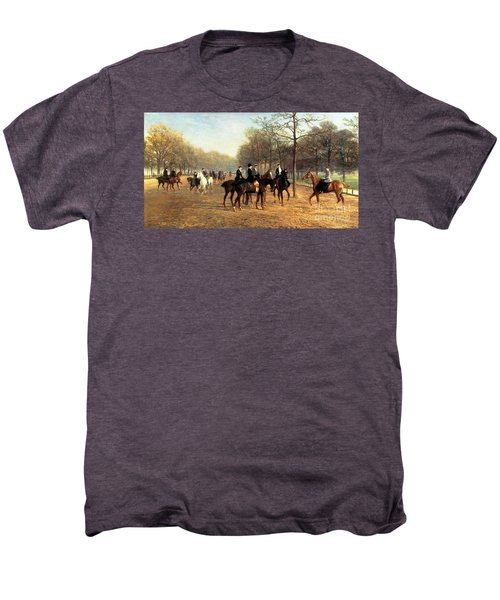 The Morning Ride Rotten Row Hyde Park Men's Premium T-Shirt by Heywood Hardy