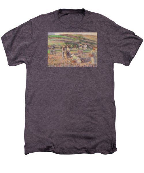 The Potato Harvest Men's Premium T-Shirt by Camille Pissarro