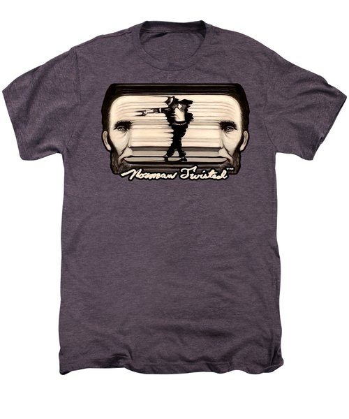 The Spaghettification Of Mike And Abe Men's Premium T-Shirt by Norman Twisted