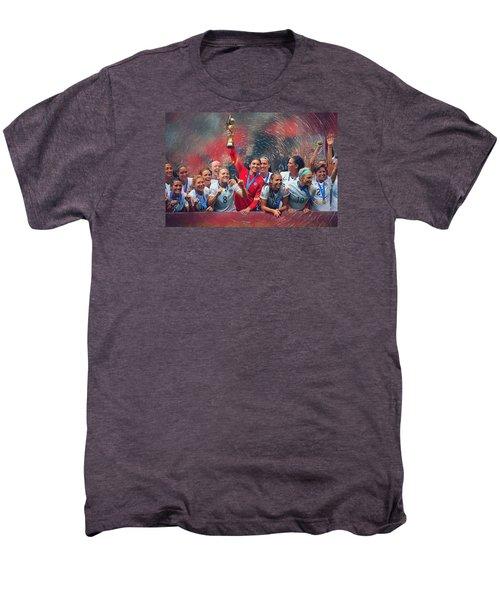 Us Women's Soccer Men's Premium T-Shirt by Semih Yurdabak