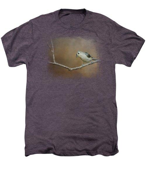 Visiting Tufted Titmouse Men's Premium T-Shirt by Jai Johnson
