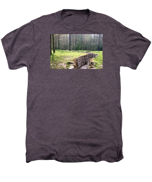 Men's Premium T-Shirt featuring the photograph World War One Trenches by Travel Pics