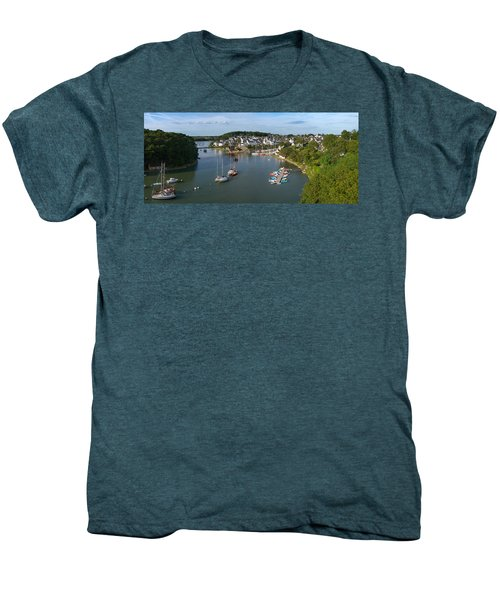 Boats In The Sea, Le Bono, Gulf Of Men's Premium T-Shirt by Panoramic Images