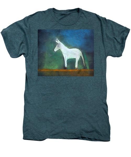 Donkey, 2011 Oil On Canvas Men's Premium T-Shirt by Roya Salari