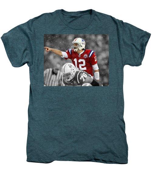 Field General Tom Brady  Men's Premium T-Shirt by Brian Reaves
