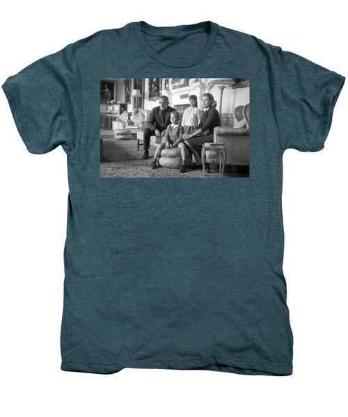 Princess Grace Of Monaco And Family In Ireland Men's Premium T-Shirt by Irish Photo Archive