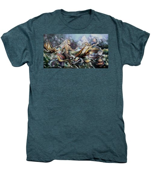 Something Fowl Afloat Redux Men's Premium T-Shirt by Patrick Anthony Pierson