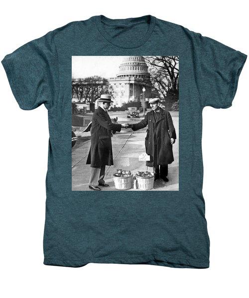 Unemployed Man Sells Apples Men's Premium T-Shirt by Underwood Archives