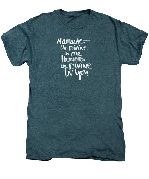 Namaste Men's Premium T-Shirt by Linda Woods