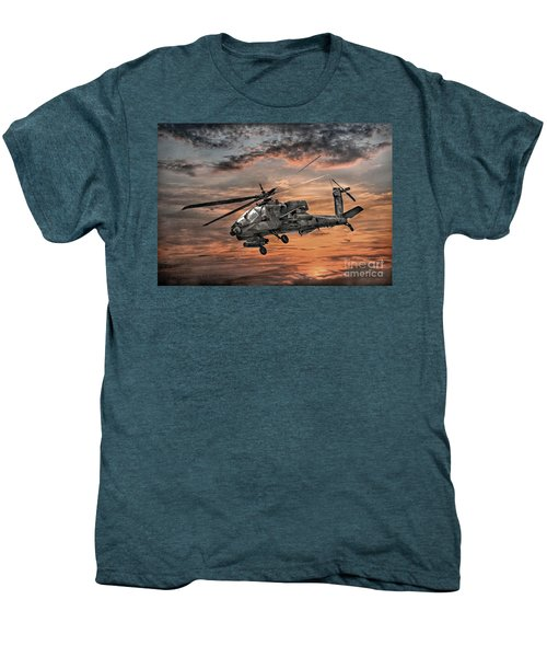 Ah-64 Apache Attack Helicopter Men's Premium T-Shirt by Randy Steele