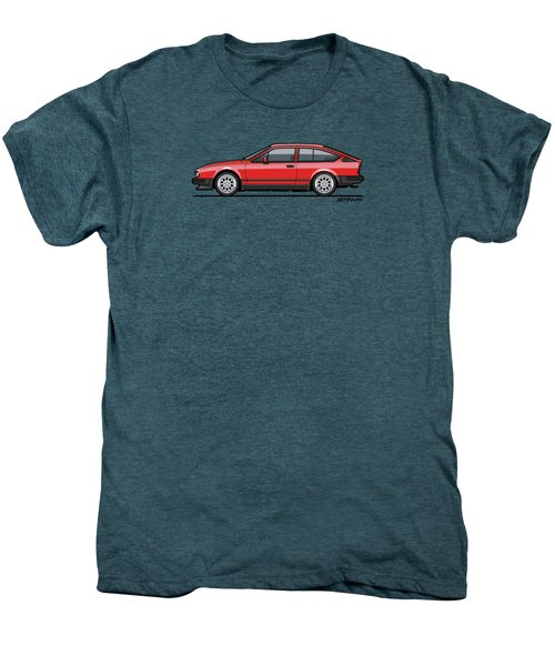 Alfa Romeo Gtv6 Red Men's Premium T-Shirt by Monkey Crisis On Mars