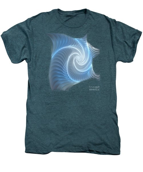 Glowing Spiral Men's Premium T-Shirt by Anastasiya Malakhova
