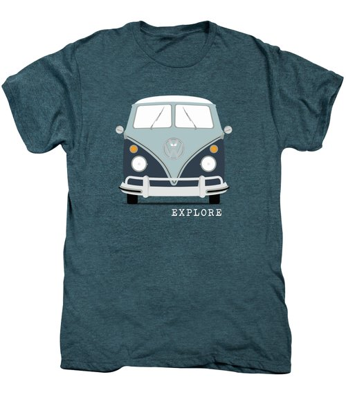 Vw Bus Blue Men's Premium T-Shirt by Mark Rogan