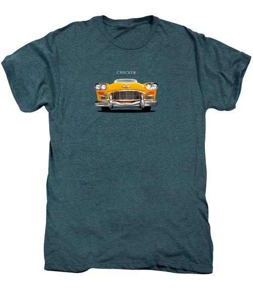 Checker Cab Men's Premium T-Shirt by Mark Rogan
