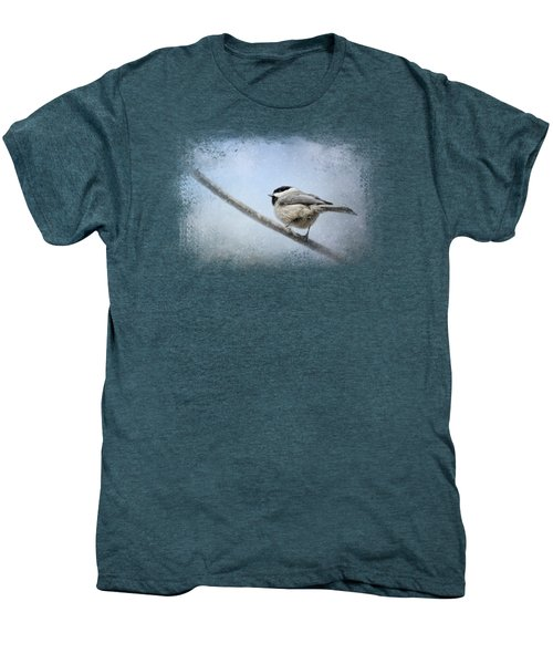 Chickadee In The Snow Men's Premium T-Shirt by Jai Johnson