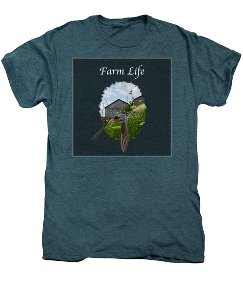 Farm Life Men's Premium T-Shirt by Jan M Holden