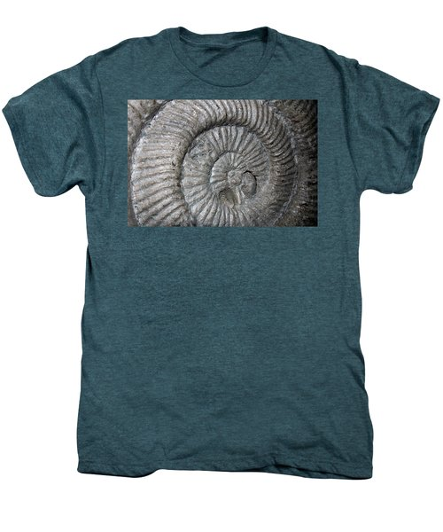 Fossil Spiral  Men's Premium T-Shirt by LeeAnn McLaneGoetz McLaneGoetzStudioLLCcom