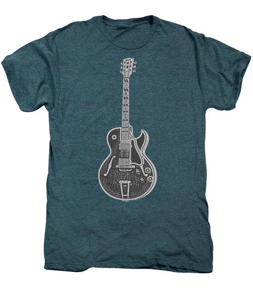 Gibson Es-175 Electric Guitar Tee Men's Premium T-Shirt by Edward Fielding