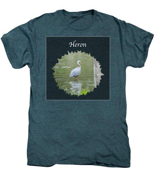 Heron Men's Premium T-Shirt by Jan M Holden